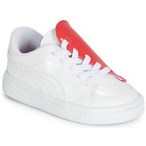 Puma Baskets basses enfant INF B CRUSH PATENT AC.W-H blanc - Taille 19,20,21,22,23,24,25,26,27