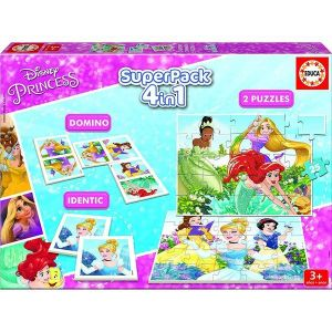 Educa Superpack Princesses Disney Domino, Identic et puzzles