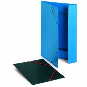 Exacompta 59502E - Chemise à élastique 3 rabats Carte lustrée, Format A3, coloris noir