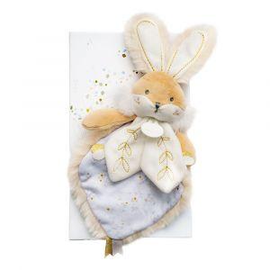Doudou et Compagnie Lapin de sucre blanc - doudou - 24 cm