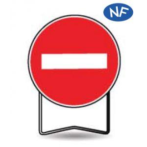 Taliaplast 524402 - Panneau signalisation prescription b1 sens interdit t1 650mm