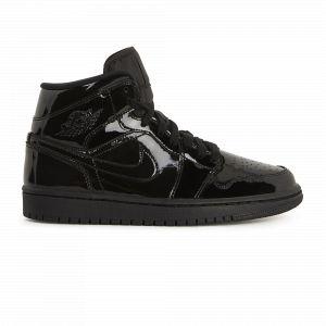 Nike Chaussure Air Jordan 1 Mid pour Femme - Noir - Taille 37.5