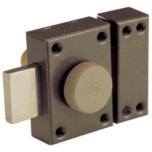 Vachette Verrou de sureté bouton et cylindre série Eclador - Longueur 40 mm