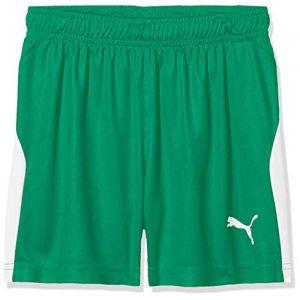 Puma Short de foot LIGA pour enfant, Vert/Blanc, Taille 116