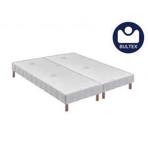 Bultex Sommier tapissier confort ferme 14 cm pieds 2x80x200
