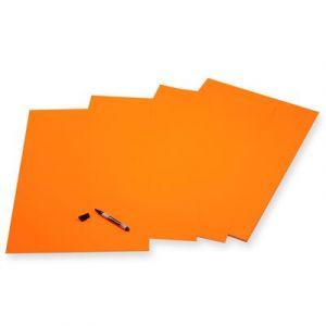 APLI 162413 - Rame de 50 feuilles de papier affiche 90 g/m², 40x60 cm, coloris orange fluo