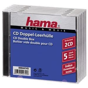 Hama 44745 - 5 boîtiers standards vides pour CD