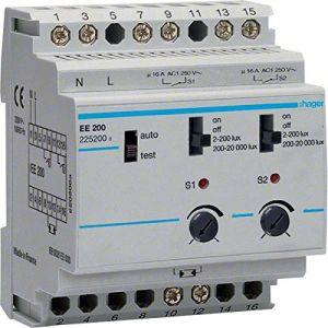 Hager Interrupteur crépusculaire 2 voies 4 modules EE200