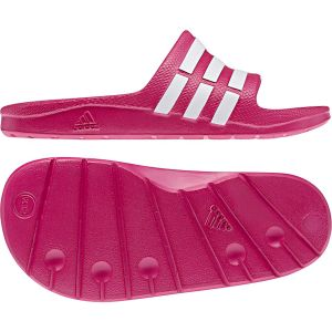 on sale ad233 3eea0 Adidas Duramo Slide K - Sandales natation - Enfant - FuschiaBlanc - 30 EU