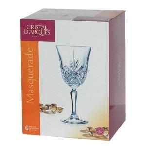 Cristal d'Arques 9295550 - Coffret de 6 verres à pied Masquerade (18 cl)