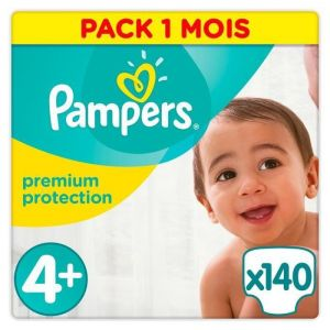 Pampers Premium Protection taille 4+ (9-18 kg) - 140 couches