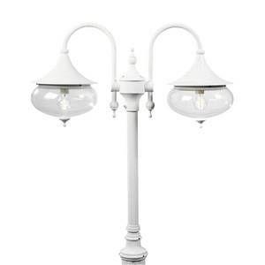 Konstsmide Lampadaire extérieur Libra Blanc, 2 lumières Classique Extérieur Libra