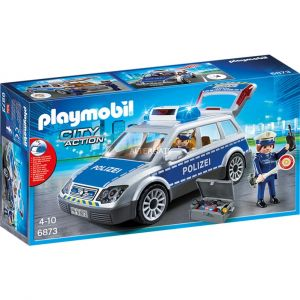 Playmobil 6873 City Action - Voiture de Policiers avec Gyrophare et Sirène