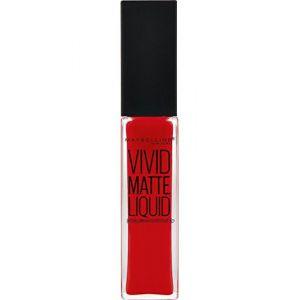 Maybelline Vivid Matte Liquid 25 Orange Shot - Laque à lèvres Color Sensational