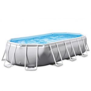 Intex Piscine tubulaire Prism Frame ovale 5,03 x 2,74 x 1,22 m