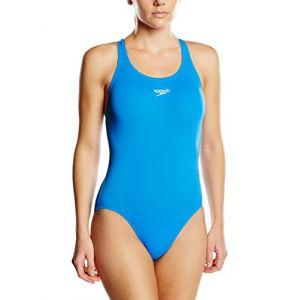 Speedo Medalist Endurance Maillot 1 pièce Femme Bleu FR 42 (Taille Fabricant M)