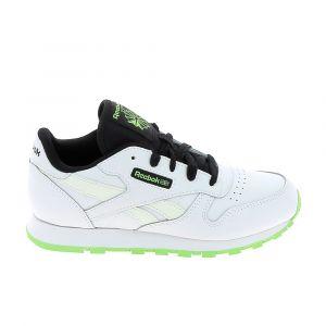 Reebok Classics Classic Leather Kid EU 32 White / Solar Green / Black - White / Solar Green / Black - EU 32