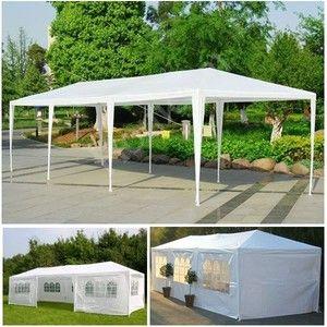 ProBache Tente tonnelle de réception blanche sans coté 3x9 m
