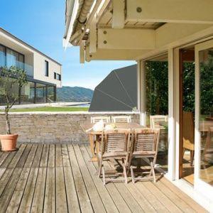Ideanature Brise vue balcon gris 1m x 4m