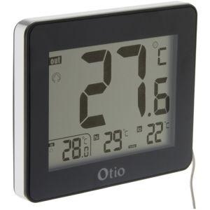 Otio Thermomètre intérieur / Extérieur filaire Noir -