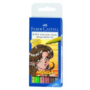 Faber-Castell Kit de 6 pièces manga Kaoiro Pitt artist pen