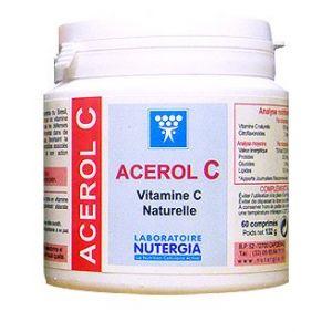 Laboratoire Nutergia Acerol C - 60 comprimés à croquer