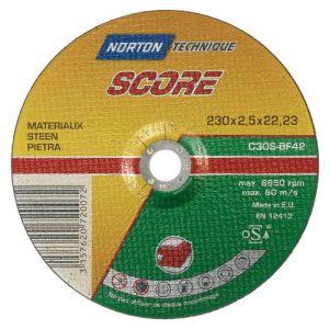 Norton clipper Disque à tronçonner - Score 100 - matériaux - 230x2.5 mm - Disque pour meuleuse