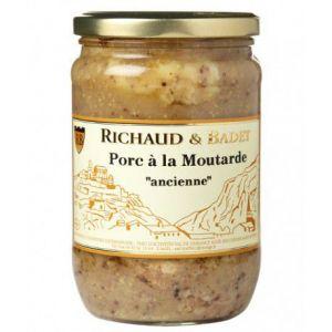 """Richaud & badet Porc à la moutarde """"ancienne"""", Bocal 600 gr"""