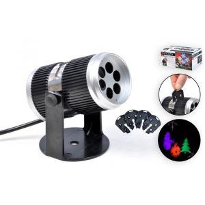 Christmas Dream Projecteur LED de Noël d'intérieur - 4 motifs noir et gris