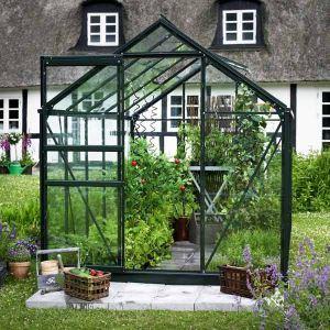 Halls Serre Popular 106 en aluminium et verre horticole 6,20 m2