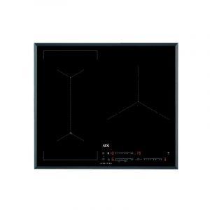 AEG Plaque à Induction IAE6344SFB Noir (3 Zones de cuisson) 60 cm