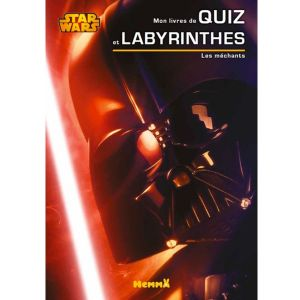Cahier de quiz et labyrinthes Disney Star Wars Les méchants