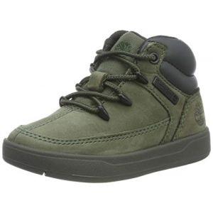Timberland Davis Square Eurosprint, Sneakers Basses Mixte Enfant, Vert (Dark Green Nubuck), 32 EU