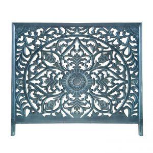 Declikdeco Tête de lit 160cm Bois Bleu MANDALY