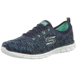 Skechers Glider Deep Space, Sneakers Basses Femme, Bleu (Nvgr), 36 EU