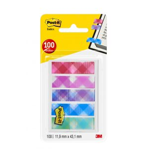Post-It Lot de 100 Marque-pages 11,9 x 43,2 mm Vichy