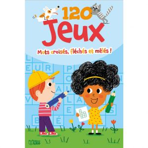 Editions Lito 120 Jeux Mots Croisés Fléchés Mêlés 7 à 9 ans