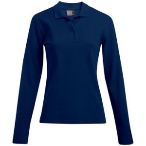 Promodoro Polo épais manches longues Femmes, XS, bleu marine