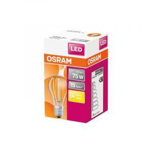 Ledvance Ampoule led standard claire filament 8W75 E27 chaud - Categorie fantome - OSRAM