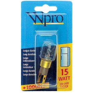 Wpro LRT009 - Ampoule TClick T25 15 W 220 V pour réfrigérateur