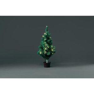 Konstsmide Sapin de Noël avec pot et guirlande à LED (60 cm)