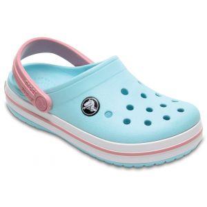 Crocs Crocband Clog Kids, Sabots Mixte Enfant, Bleu (Ice Blue/White), 29-30 EU