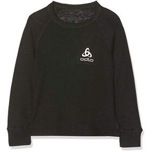 Odlo Crew Neck Warm - T-shirt - manches longues - Enfant - Noir (black) - FR: 4 ans (Taille Fabricant: 104 cm)
