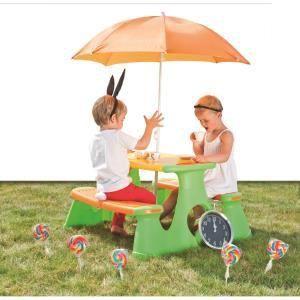 Paradiso Toys Table de pique-nique avec parasol