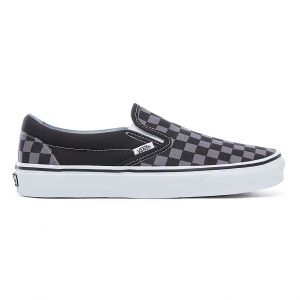 Vans Chaussures Checkerboard Classic Slip-on (black/pewter-checkerboard) Homme Original Classic, Taille 36.5