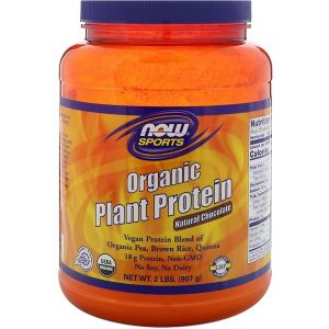 Now Foods Organic Plant Protein- Natural Chocolate (907 gram)