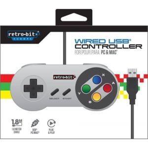 Retro-Bit Manette USB type SNES