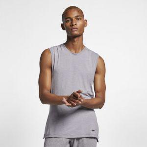 Nike Débardeur de training de yoga Dri-FIT pour Homme - Gris - Taille L - Male
