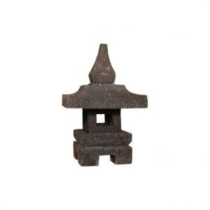 Lanterne de jardin en pierre reconstituée coloris noir 35 cm