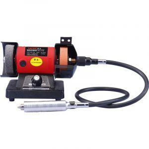 Varan Motors Motors - NEMBG-01 Mini Meuleuse polisseuse d'établi 150W + flexible pour outils multifonctions